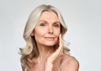 Beautiful older woman with nice skin